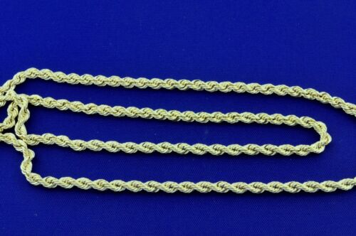 3.60 Grams 14K Solid Yellow Gold Hollow Rope Necklace Chain  22 Inch Brand new