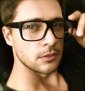 06cdb80e339 Details about Big Square Thick Frame Clear Lenses Celebrity Eyeglasses Men  Women Glasses
