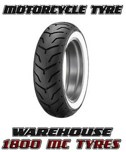 dunlop d407 180 65 16 81h white wall rear tyre harley. Black Bedroom Furniture Sets. Home Design Ideas