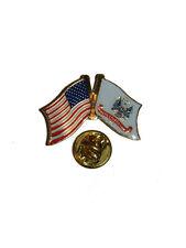 USA American U.S. Army Crest Flag Bike Motorcycle Hat Cap lapel Pin