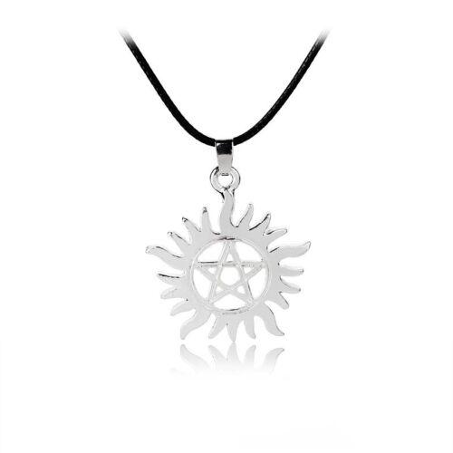 Supernatural Necklace Sam Dean Winchester Protection Pentagram