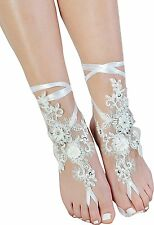 Lace Barefoot Sandals,Beach Wedding Anklet,Sexy Jewelry,Wedding Shoes With