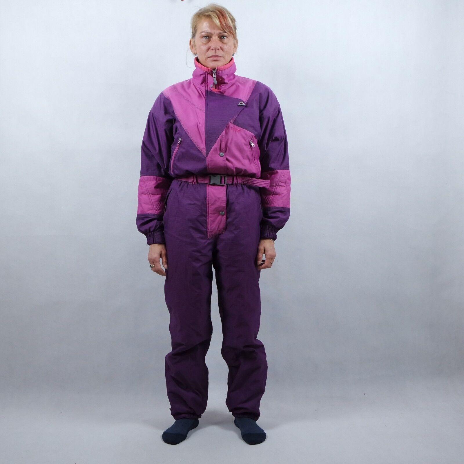 ON THE EDGE Womens Purple Festival One Piece Ski Suit Snowsuit SIZE L, 175-180
