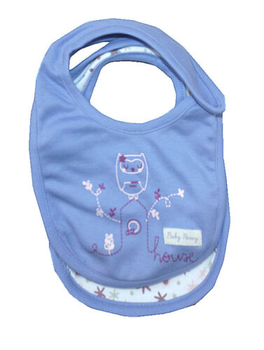 Chainstore Cute Design Baby Girl Pack of 2 Purple Owl Bibs Ex