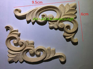 Rectangle wood appliques wooden thing