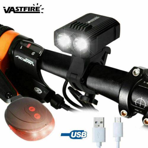 Mini MTB LED Bike Front Light USB Rechargeable Bycicle Headlamp Warn Rear Light