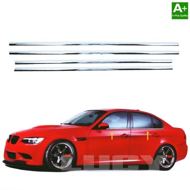 Chrom Fensterleisten 4 tlg EDELSTAHL Für BMW 3er E90 Limo von 2004 bis 2012