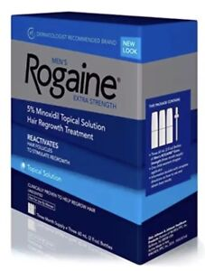 NEW-Men-039-s-Rogaine-Topical-Solution-3-Month-Supply-2oz-Bottles-Dropper-12-2020NIB