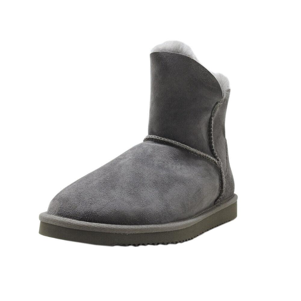 Member's Mark Womens Size 7 Genuine Sheepskin Sherpa-Fur-Lined Short Boots, Grey