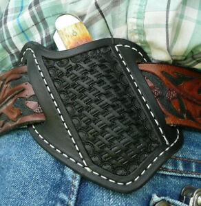 Small-Leather-Cross-Draw-Pocket-Knife-Sheath-Ruff-s-Saddle-Shop-Black