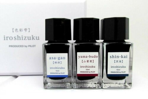 Pilot Ink Iroshizuku Mini 3 Color Set B INK-15-3C-B AS・SNK・YB