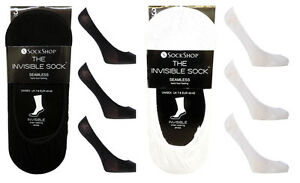 3 Pairs of Sock Shop Plain Invisible Everyday Socks/Liners for Trainer or Shoes