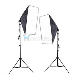 Image is loading Continuous-Lighting-Kit-E27-Bulb-L&-Softbox-Light-  sc 1 st  eBay & Continuous Lighting Kit E27 Bulb Lamp Softbox Light Stand for ... azcodes.com
