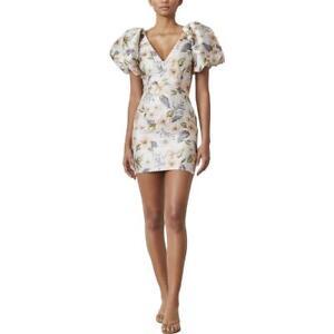 Bec + Bridge Womens Fleurette V Neck Floral Short Cocktail Dress BHFO 8202