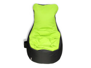 sitzsack sessel mit lehne gr n grau 280l h90xb70xsitzh65 cm outdoor polyeste ebay. Black Bedroom Furniture Sets. Home Design Ideas