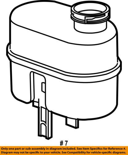 GM OEM-Coolant Reservoir Tank 15823206
