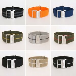 Marine-Nationale-Parachute-French-Style-Elastic-Nato-Strap-18mm-20mm-22mm