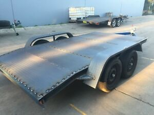 Brand-New-Car-Trailer-Tandem-axle-beaver-12FT-2T-BUDGET-NO-RAMPS-OR-PAINT-INCL