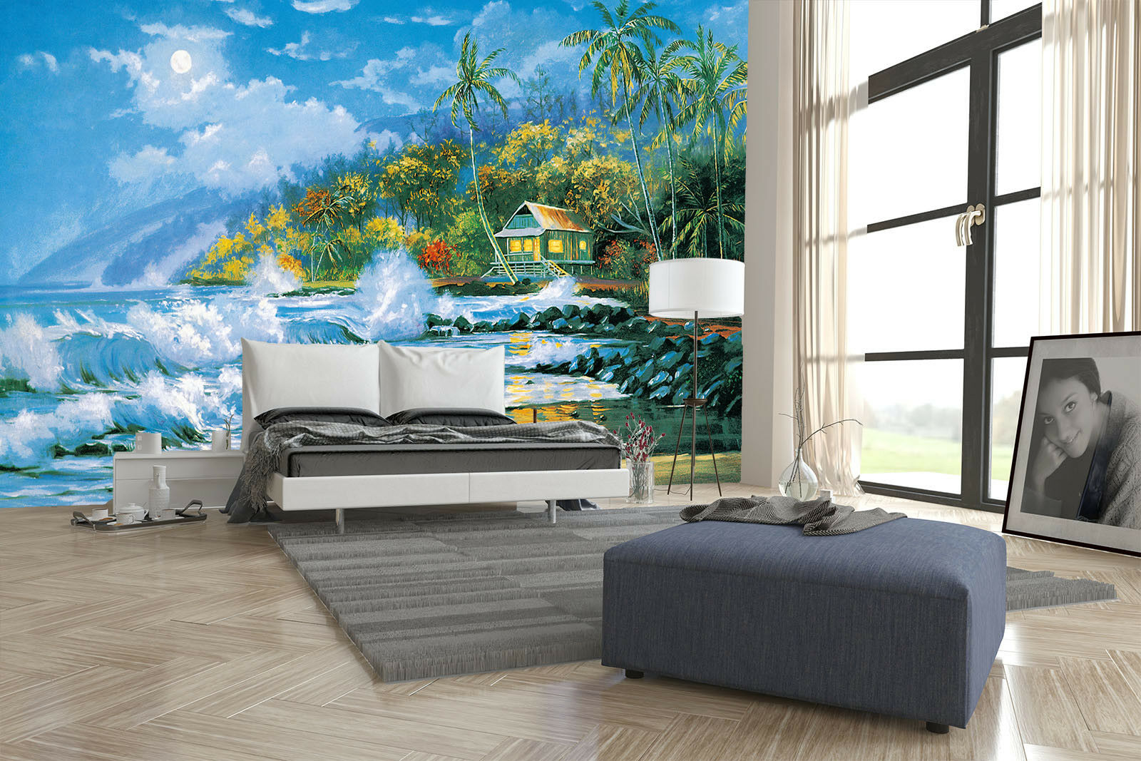 3D Surfing Beach House  45 Wall Paper Wall Print Decal Wall Deco Indoor Mural