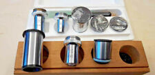 Collection Of Lomo Ussr Microscope Lenses With Cases