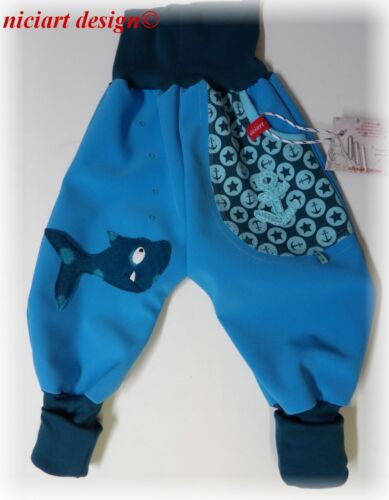 ♥ bouteille Pantalon ♥ matschhose Niciart ♥ Designer Softshell Pantalon bouffant requin ♥ 50 à 134!!