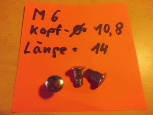 Schraube für Zange Wasserpumpenzange Rohrzange Bordwerkzeug M 6