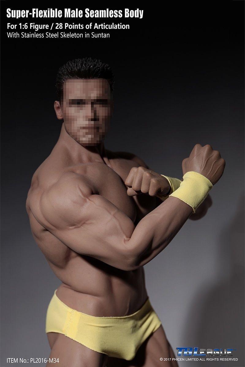 Bis 6 mann männliche muskulöse nahtlose bräune tbleague pl2016-m34 körper extrem flexibel
