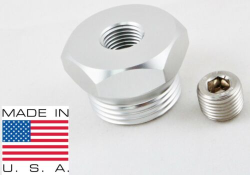 99-03 7.3L Powerstroke Billet Aluminum Air Intake Heater Delete Plug Silver