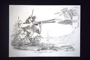 Incisione-d-039-allegoria-e-satira-Inghilterra-contro-Grecia-Don-Pirlone-1851