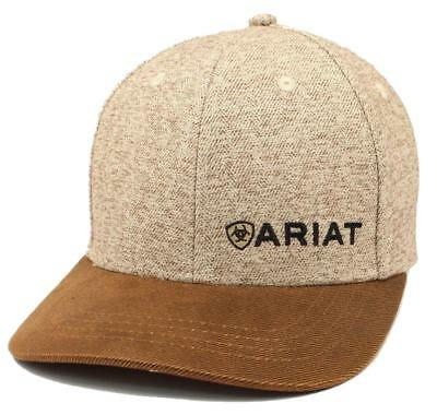 f7d1e466b Ariat Mens Hat Baseball Cap Snap Back Tweed Oilskin Logo Brown A300003402  701340626034 | eBay