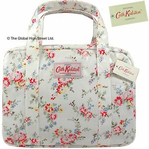 Cath-Kidston-bolso-de-mano-mini-Bolso-Con-Cremallera-Destenido-Flor-blanco-100