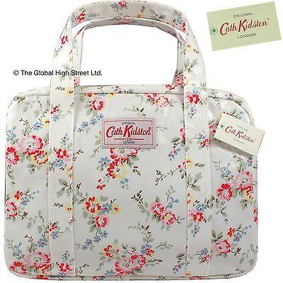 Cath Kidston Hand Bag Mini Zip Bleached Flower White 100 Authentic