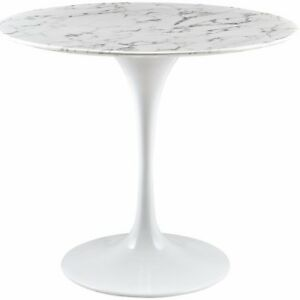 Image Is Loading HIGH END White Marble Tulip Round Table 40