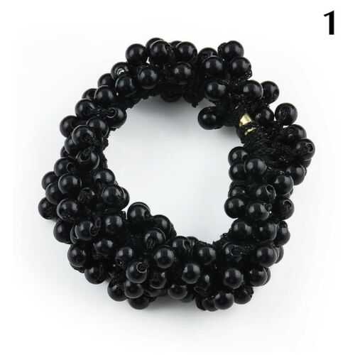 Details about  /Fashion Lady Women Crystal Beads Hair Band Rope Scrunchie Ponytail Holder E1V2