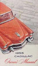 1955 Cadillac Owners Manual 55 Deville Eldorado Series 62 60 Fleetwood 75 Guide