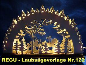 REGU-Laubsaegevorlagen-Nr-122-Motiv-034-Es-weihnachtet-sehr-034-fuer-Schwibbogen