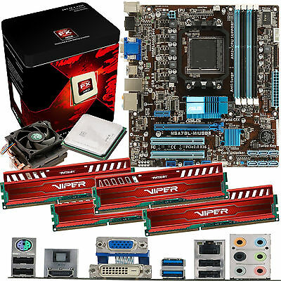AMD X8 Core FX-8350 4.0Ghz & ASUS M5A78L-M USB3 & 32GB DDR3 1600 Viper Venom Red
