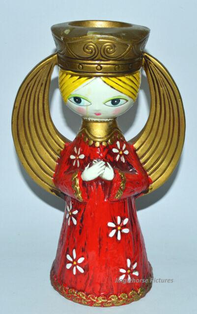 VINTAGE MID CENTURY MODERN CHRISTMAS ANGEL CANDLE HOLDER FIGURE DICKSON JAPAN