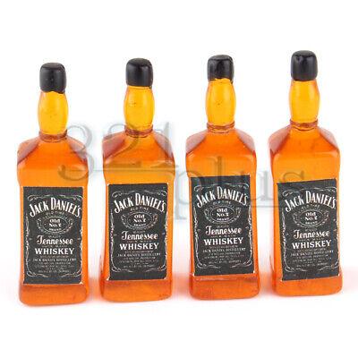 Puppenhaus Miniatur 1:12 Whisky Weinflaschen und Tassen Pub Bar Trinkspielzeug