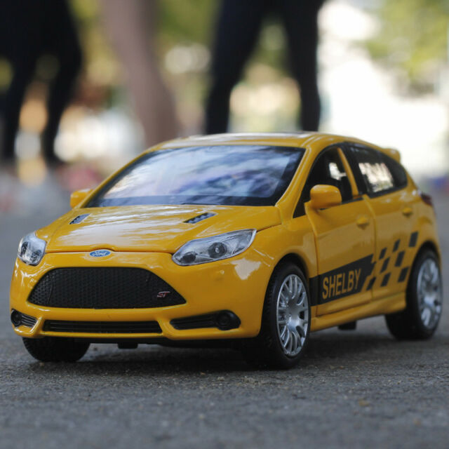 1 32 Scale Ford Focus St Sound Light Diecast Pull Back Toy Car Model For Child