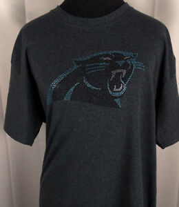 Women-039-s-Carolina-Panthers-Rhinestone-Football-V-neck-T-Shirt-Tee-Bling-Lady