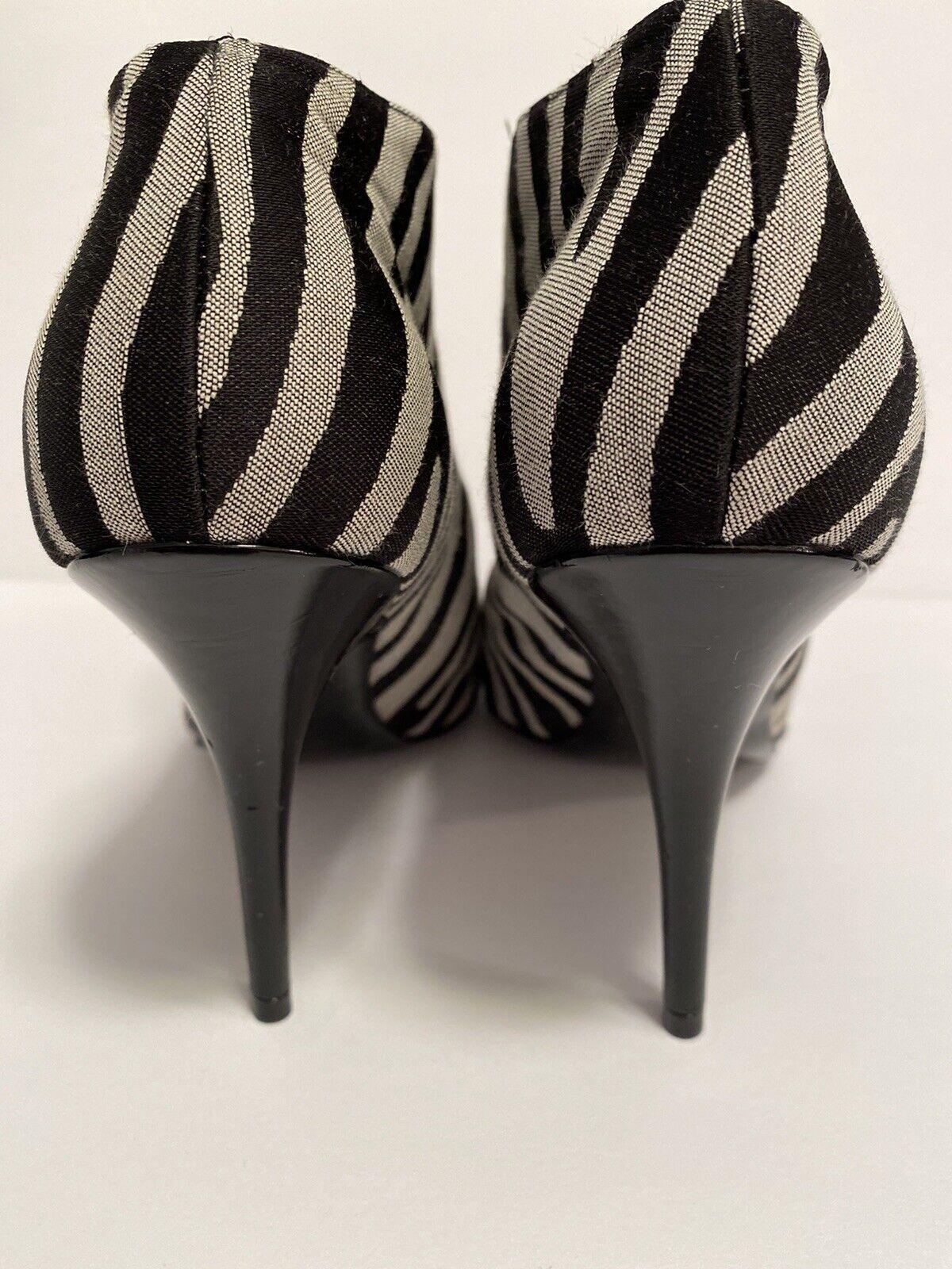 Stella McCartney Zebra Striped Boots Size 36 - image 6