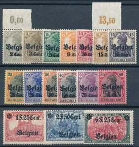 Landespost-in-Belgien-Nr-10-25-postfrisch-nur-Nr-24-mit-Falz-70561