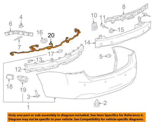 Chevrolet GM OEM 16-18 Impala Rear Bumper-Harness 23188323