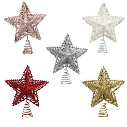 Full Glitter Choose Colour Christmas Decoration Tree Top Star 200mm