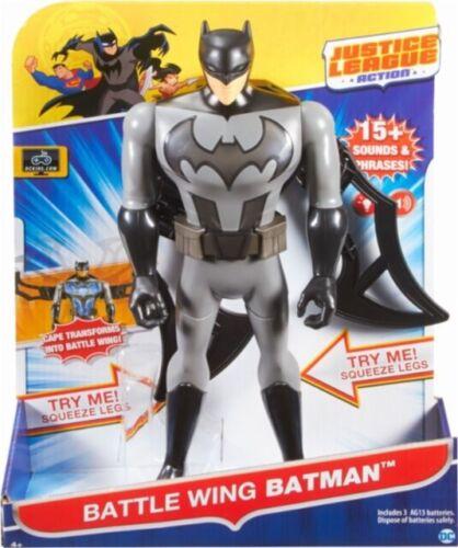 """DC Comics Justice League Battle Wing Batman Talking Light Up 12/"""" Action Figure"""