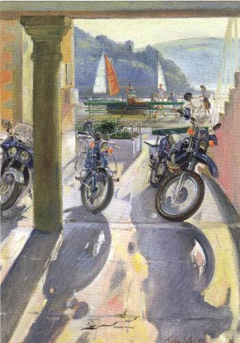 Räder und Segel Postcard Art Timothy Easton Kunstkarte