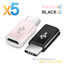 thumbnail 16 - 5X-Micro-USB-Female-to-USB-3-1-Type-C-Male-Converter-Data-Cable-OTG-Adapter