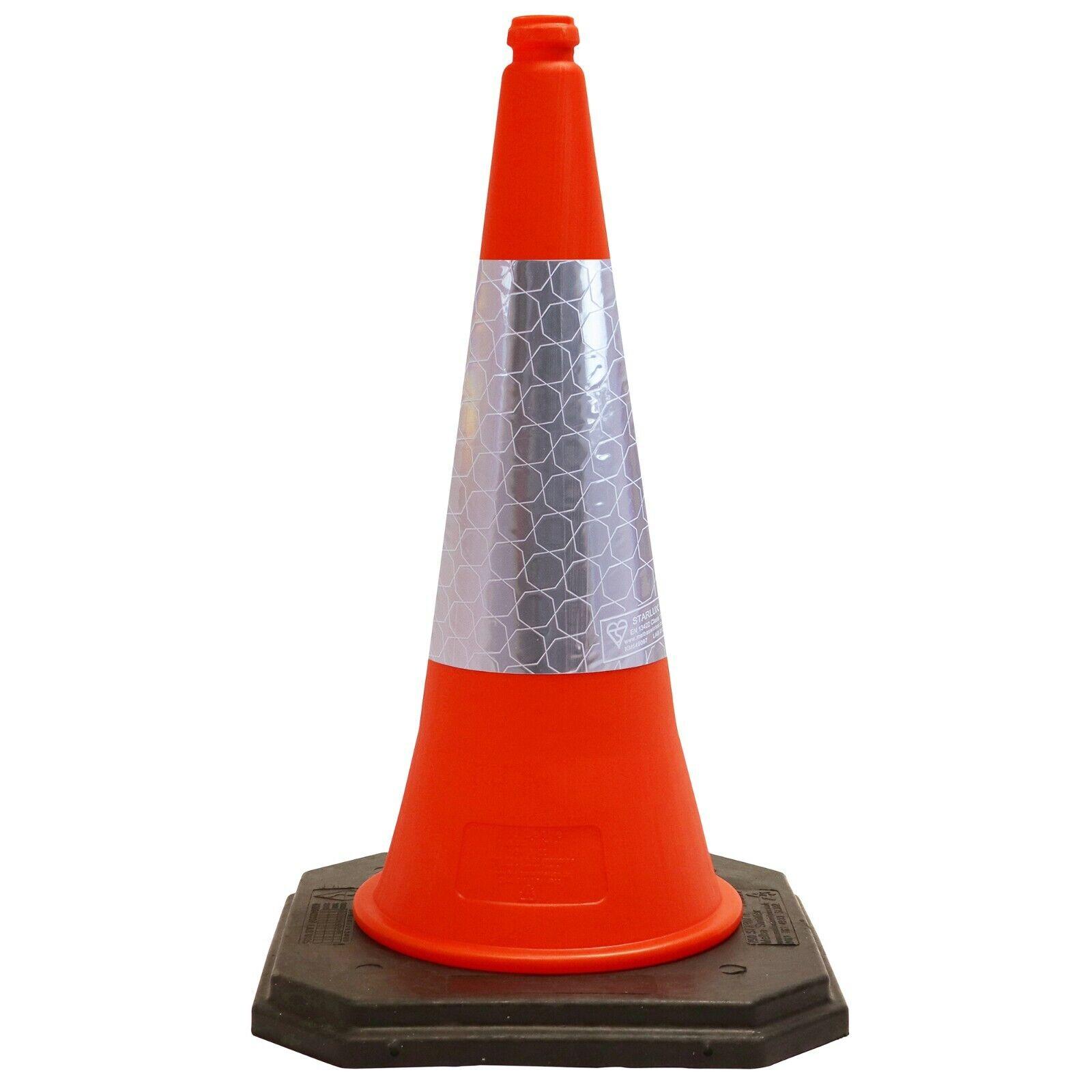 750mm Road Traffic Cone 2-Piece Design Heavy Duty Safety Street Cone Orange