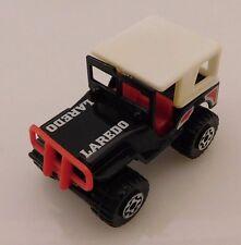 superfast Matchbox - Vintage Black 4x4 Jeep - Laredo - 1981 removable hard top